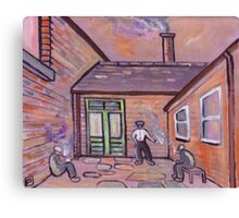 Smokers corner (from my original acrylic painting) Canvas Print