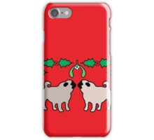christmas pugs & kisses iPhone Case/Skin