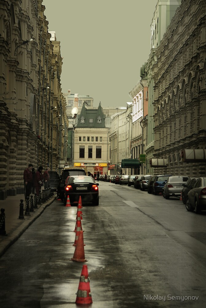 Towards Red Square. Moscow by Nikolay Semyonov