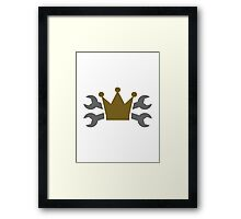 Crossed screw wrench crown Framed Print