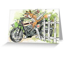 MOTO THEIF! Greeting Card