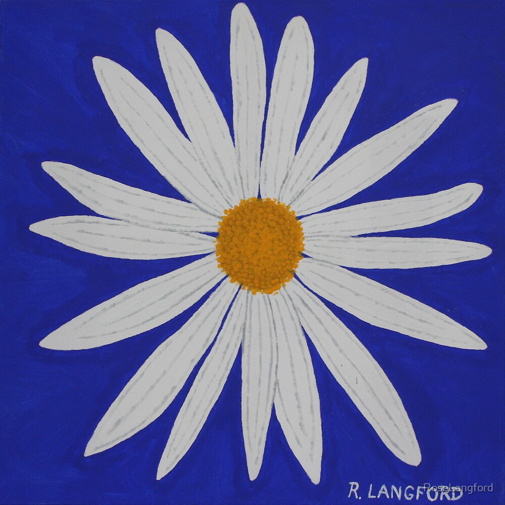 WHITE DAISY by RoseLangford