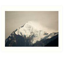 Pandim's peak in the Himalayas Art Print