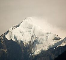 Pandim's peak in the Himalayas by Brent Olson