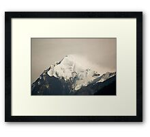 Pandim's peak in the Himalayas Framed Print