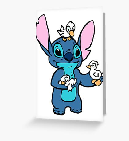 Stitch with Ducks Greeting Card