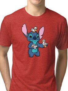 Stitch with Ducks Tri-blend T-Shirt