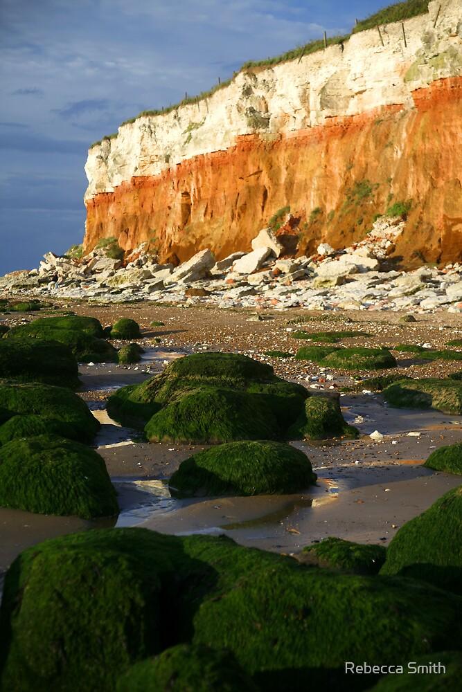 Old Hunstanton Cliffs, Norfolk. by Rebecca Smith