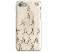 "The Poste (Positions/Guards) ""Getty"" Fiore dei Liberi iPhone Case/Skin"