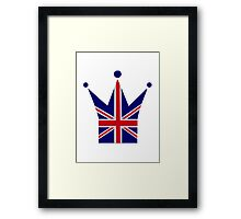 Crown United Kingdom flag Framed Print