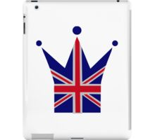 Crown United Kingdom flag iPad Case/Skin