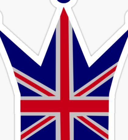 Crown United Kingdom flag Sticker