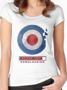 MOD DOWNLOAD - THE MODERN WORLD Women's Fitted Scoop T-Shirt