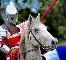 Medieval Knight On Horse Ready For Joust by Stuart Blythe