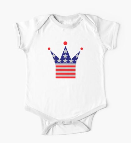 Crown United States flag One Piece - Short Sleeve