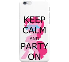 Party On Black iPhone Case/Skin