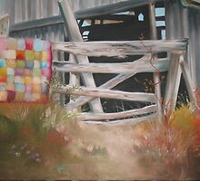 Washed Quilt at the Old Barn by ArtExpressions