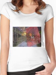 ~father/time~ (two) Women's Fitted Scoop T-Shirt