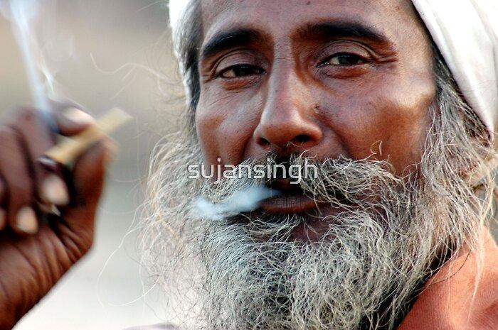 sadhu smoking by sujansingh