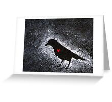 Graffiti Love - Crow Heart  Greeting Card