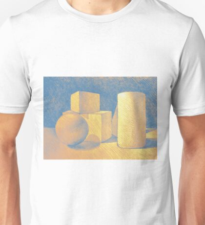 Still life drawing with simple geometric volumes Unisex T-Shirt