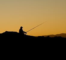 Angler at dusk by Matthew James