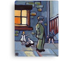 Street urchins (from my original acrylic painting) Canvas Print