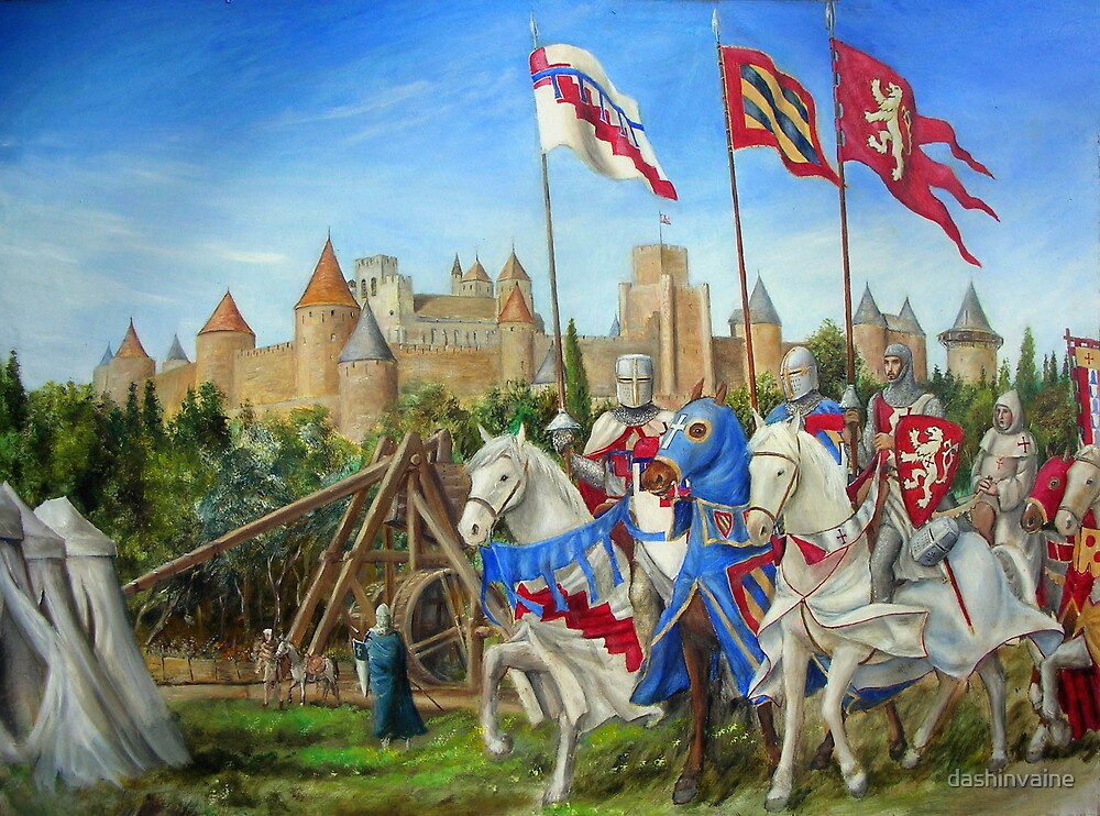 Siege of Carcassonne by dashinvaine