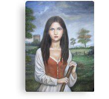 Rustic Girl Canvas Print