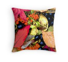 Autumn Colour Collage Throw Pillow