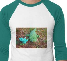 Gator McBumpypants and Herman the baby Pterodactyl Men's Baseball ¾ T-Shirt