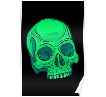 Skull - Green Poster