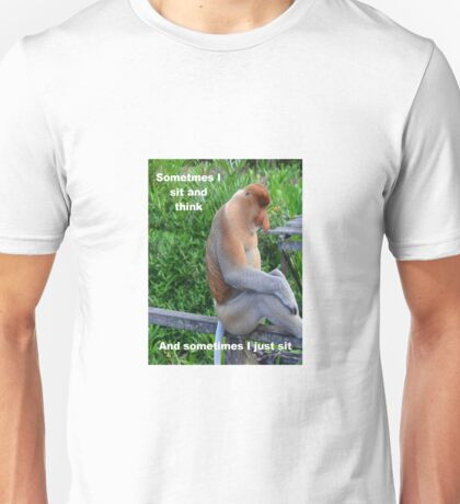 Proboscis Monkey maybe Thinking Unisex T-Shirt
