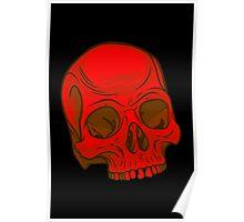 Skull - Red Poster