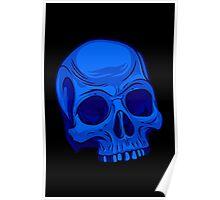 Skull - Blue Poster