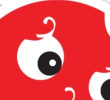 Small Red Dot Sticker