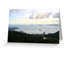 View South from the Peak - Hong Kong. Greeting Card