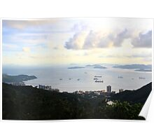 View South from the Peak - Hong Kong. Poster