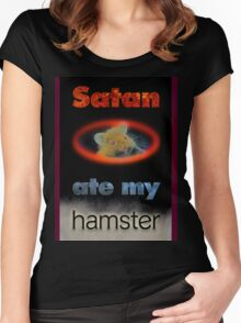 Satan's Hamster Women's Fitted Scoop T-Shirt