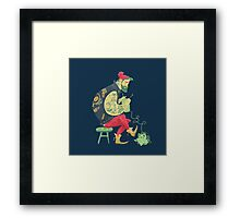 dude knits Framed Print