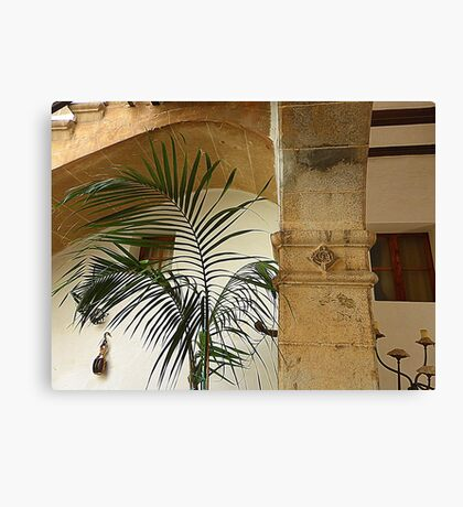 Pillars And Palms Canvas Print