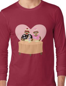 Sock Monkey Romance Long Sleeve T-Shirt