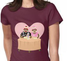 Sock Monkey Romance Womens Fitted T-Shirt