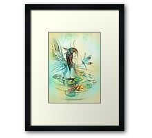 """THE AQUARIUS"" - Protective Angel for Zodiac Sign Framed Print"