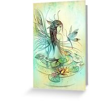 """THE AQUARIUS"" - Protective Angel for Zodiac Sign Greeting Card"