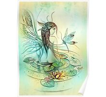 """THE AQUARIUS"" - Protective Angel for Zodiac Sign Poster"