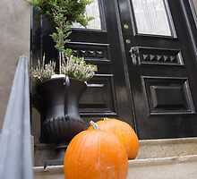 Halloween doorstep by Anne Scantlebury