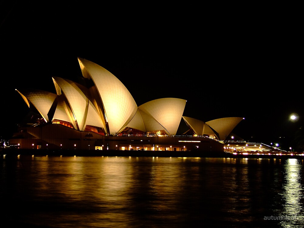 Sydney Opera House at night by autumnleaf