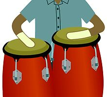 Sock Monkey Congas by pounddesigns
