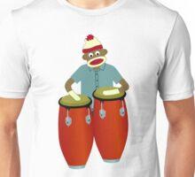 Sock Monkey Congas Unisex T-Shirt